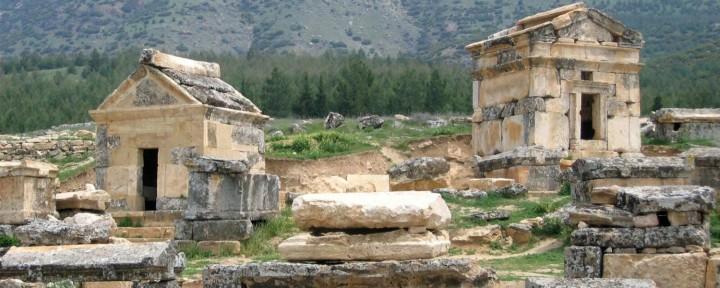 pamukkale necropolis wisata tour ke pamukkale turki