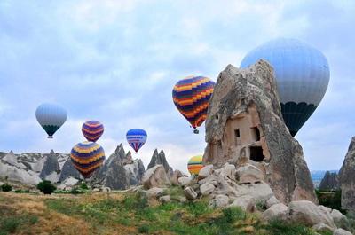 balon udara wisata tour ke cappadocia balon udara